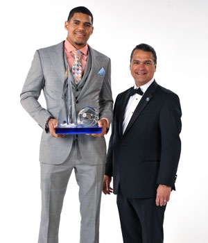 Tobias Harris Receives the 2013-14 DeVos Community Enrichment Award