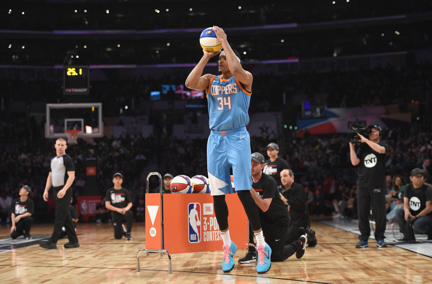 Clippers' Tobias Harris finishes third in NBA All-Star 3-Point Contest
