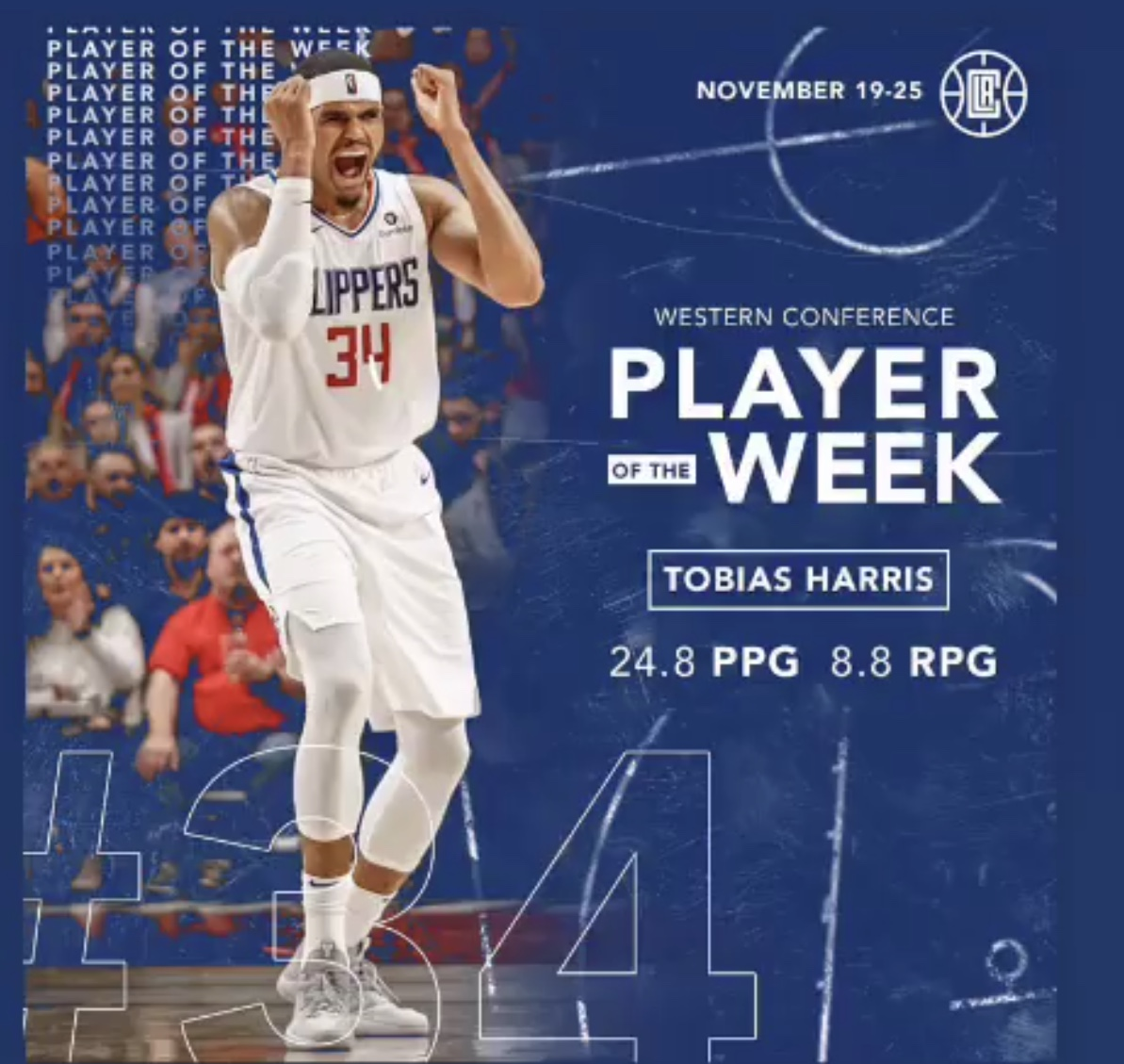 Congrats Tobias for receiving player of the week for the week 6 of the 2018-19 season November 19 – 25.