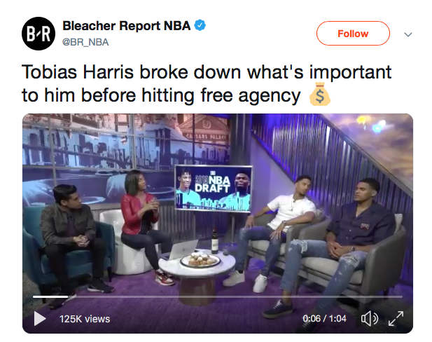 Tobias Harris broke down what's important to him before hitting free agency